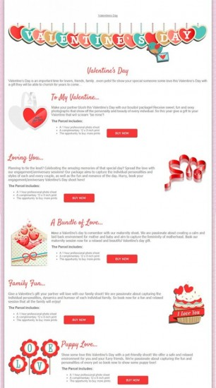 Valentine-pageset