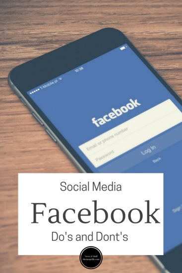 Social media: Facebook do's and don'ts