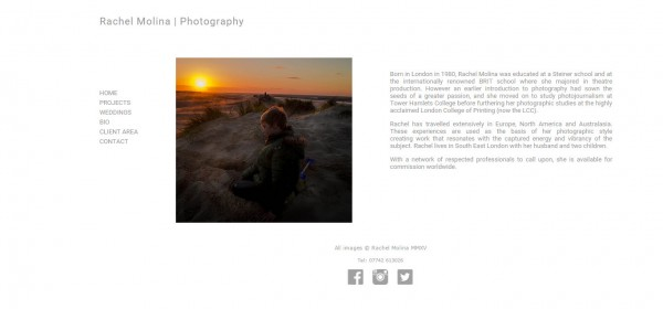 Featured Website: Rachel Molina Photography. Wedding, portrait and landscape photographer | blog.theimagefile.com
