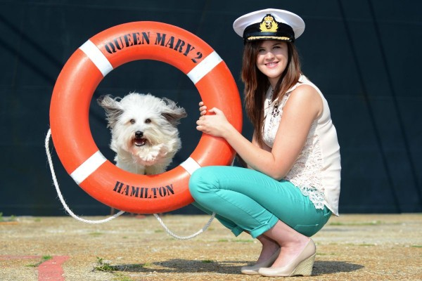 Cunard Lines Queen Mary 2 & Pudsey, Britain's Got Talent Winner August 2012