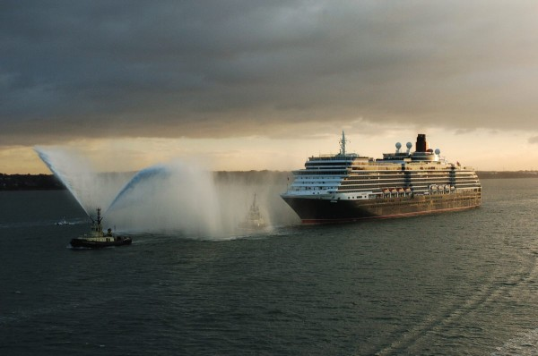 Cunard Queen Victoria Naming Ceremonies. Arrival in Southampton 7th December 2007