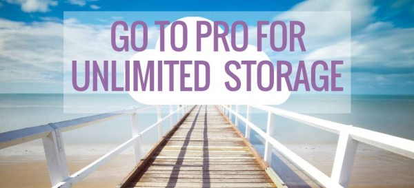 Go Pro And Get Unlimited Storage!