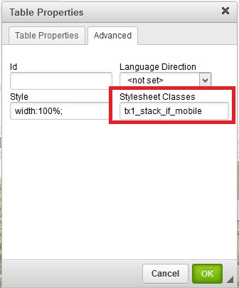 Making Tables Mobile Friendly