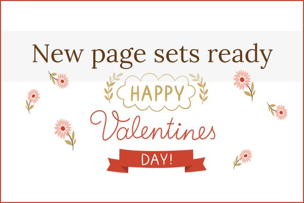 Valentine's Day Page Sets 2016!