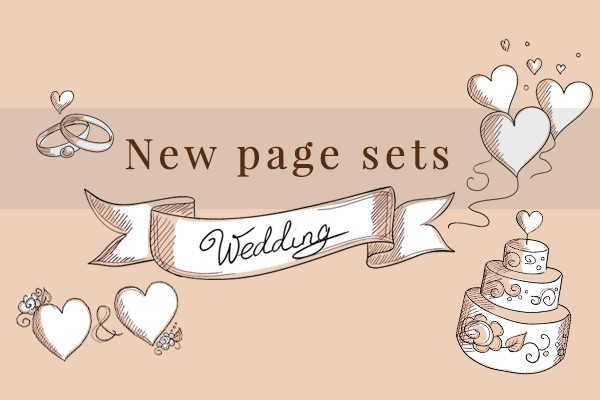 wedding pagesets 2016