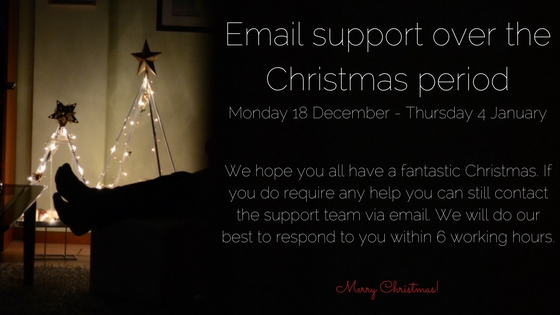 Theimagefile Support Over The Christmas Period