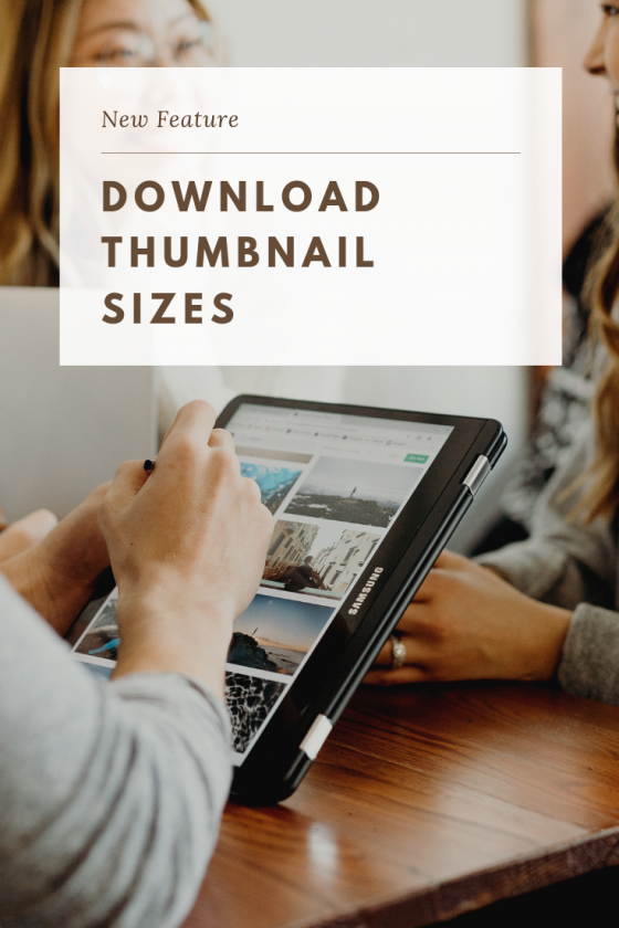 Download Thumbnail Sizes