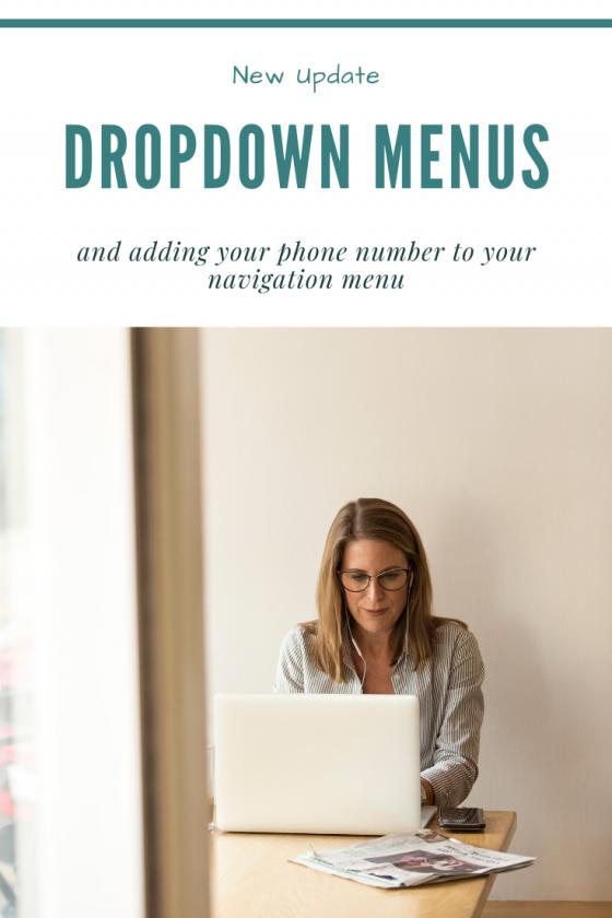 New Update: Dropdown Menu Icon!