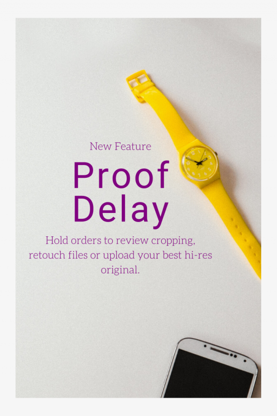 New Proof Delay Feature