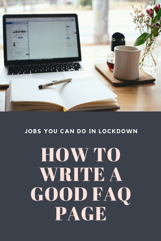 How To Write A Good FAQ Page