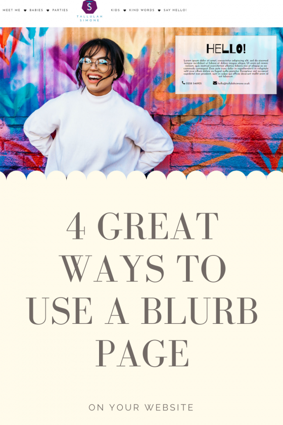 Four Great Ways To Use A Blurb Page On Your Website
