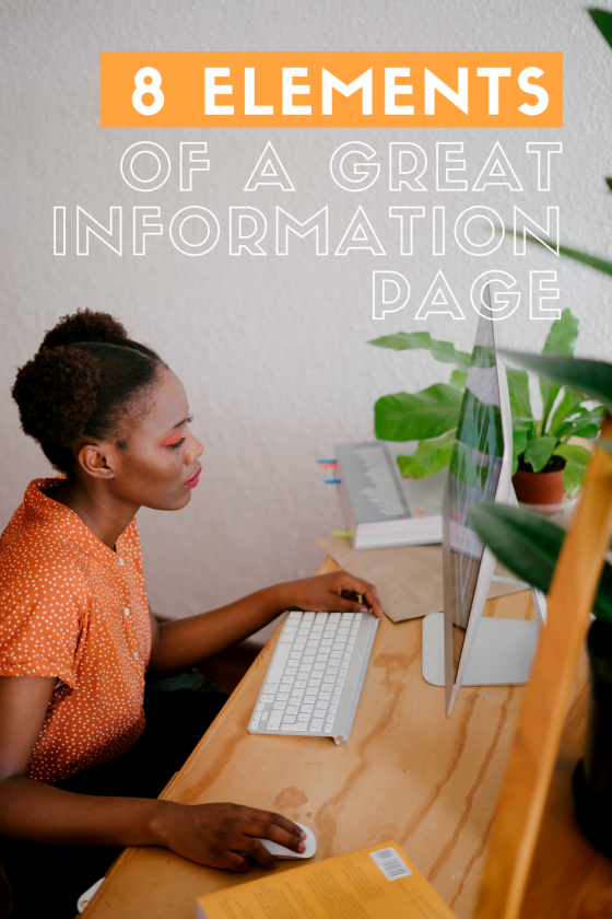 8 Elements Of A Great Information Page