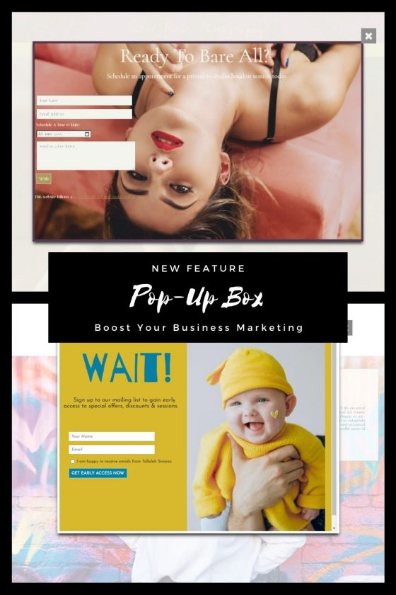 New Pop-Up Box Feature | Boost Your Business Marketing
